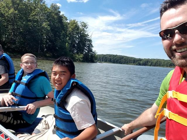 4-H youth participate in activity