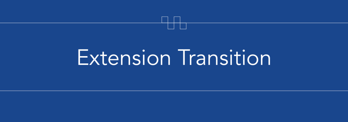 Text says Extension Transition