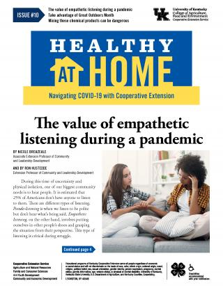 Front page of Healthy At Home newsletter issue 10, click the link for a PDF