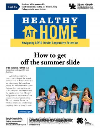Front page of Healthy At Home newsletter issue 12, click the link for a PDF