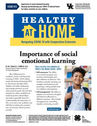 Front page of Healthy At Home newsletter issue 13, click the link for a PDF