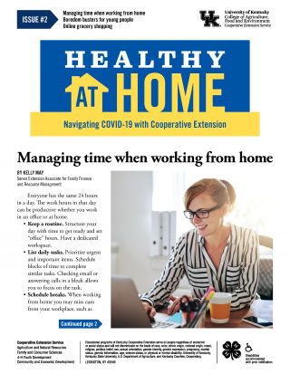 Front page of Healthy At Home newsletter issue 2, click the link for a PDF