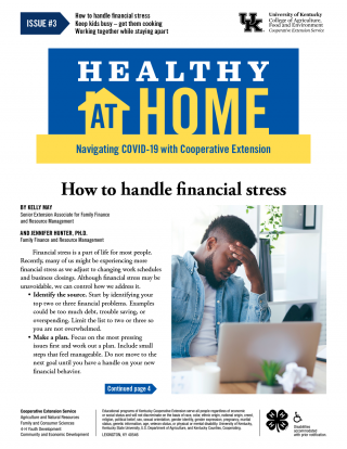 Front page of Healthy At Home newsletter issue 3, click the link for a PDF
