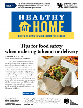 Front page of Healthy At Home newsletter issue 7, click the link for a PDF