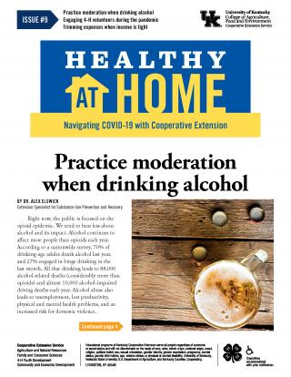 Front page of Healthy At Home newsletter issue 9, click the link for a PDF